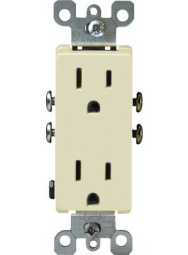 LEVITON LEVITON DECORA GROUNDING OUTLET IVORY
