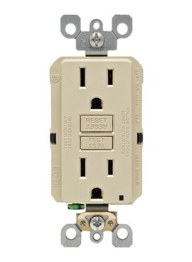LEVITON LEVITON  SELF TEST GFCI OUTLET IVORY