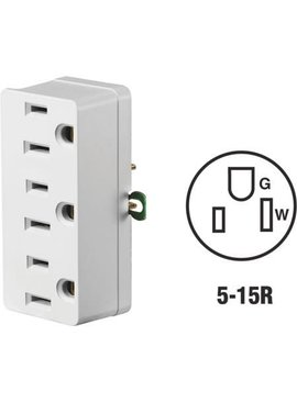 LEVITON WHITE TRIPLE OUTLET ADAPTER
