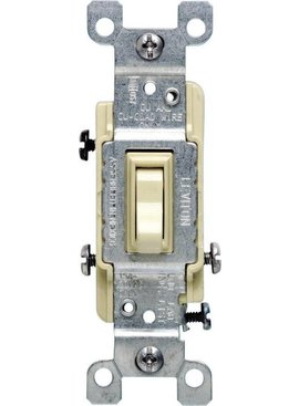 LEVITON LEVITON  3-WAY GROUNDING SWITCH IVORY