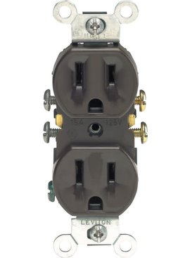 LEVITON LEVITON GROUNDING OUTLET BROWN