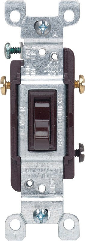 LEVITON LEVITON  3-WAY GROUNDING SWITCH BROWN