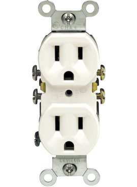 LEVITON LEVITON -WCP GROUNDING OUTLET WHITE