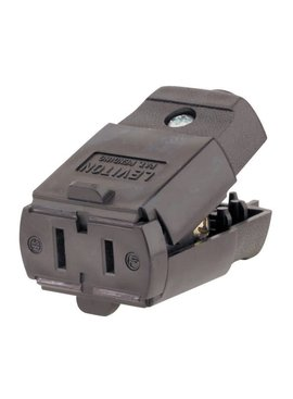 LEVITON LEVITON LIGHT DUTY CONNECTOR BROWN