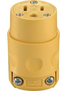 LEVITON LEVITON  15A-125V GROUNDING CONNECTOR YELLOW