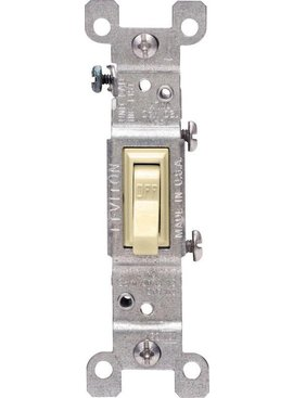 LEVITON LEVITON SINGLE POLE GROUNDING SWITCH IVORY