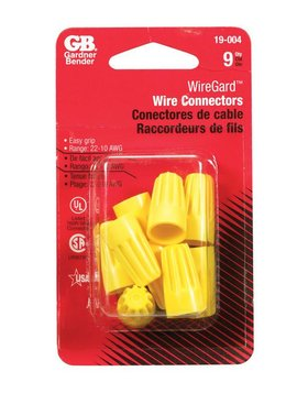 YELLOW WIRE CONNECTORS 9/CRD