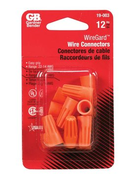 ORANGE WIRE CONNECTORS 12/CRD