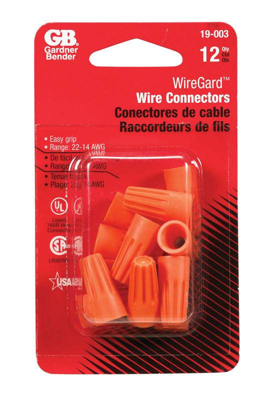 ORANGE WIRE CONNECTORS 12/CRD