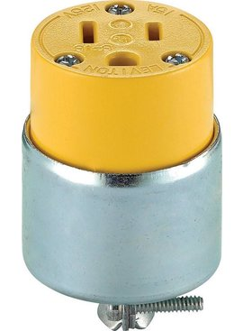 LEVITON ARMORED GROUNDING EXTENSION CORD OUTLET BULK