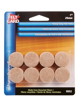 "1"" HEAVY DUTY FELT GARD PADS S/A (16CD) - EACH"