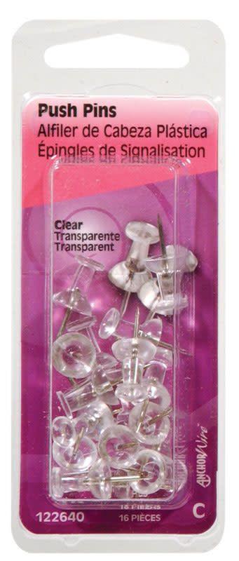 OOK CLEAR PUSH PINS 20/PCS