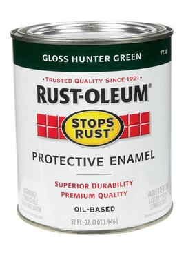 RUST-OLEUM CORPORATION GLOSS HUNTER GREEN PROTECTIVE ENAMEL  QUART
