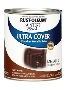 RUST-OLEUM CORPORATION PAINTERS TOUCH METALLIC OIL RUBBED BRONZE QUART