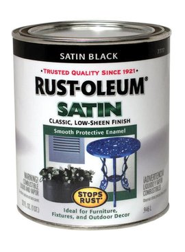 RUST-OLEUM CORPORATION SATIN BLACK PROTECTIVE ENAMEL QUART