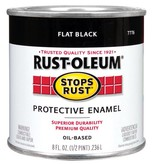 RUST-OLEUM CORPORATION FLAT BLACK PROTECTIVE ENAMEL HALF PINT