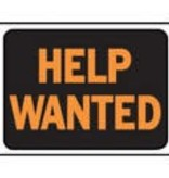 """""""HELP WANTED"""" PLASTIC SIGN"""