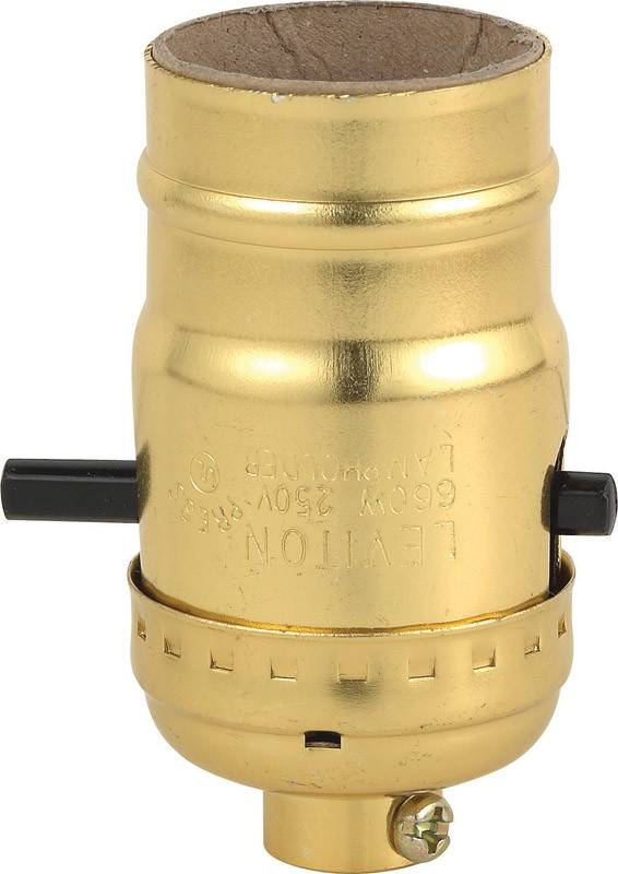 LEVITON LEVITON  PUSH BTN LAMP SOCKET POL GILT