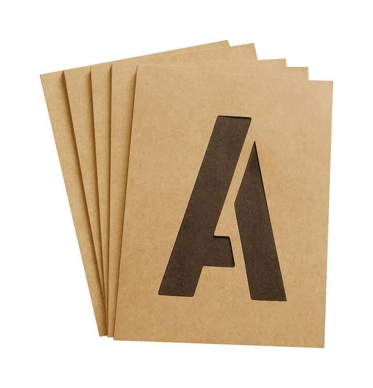 "4"" CARDED NUMBER & LETTER STENCILS"