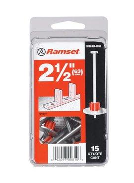 "RAMSET 2-1/2"" WASHERED DRIVE PIN"