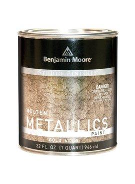BENJAMIN MOORE STUDIO MOLTEN METAL-GOLD QT