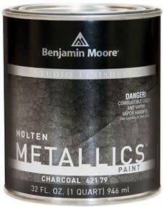 BENJAMIN MOORE STUDIO MOLTEN METAL-CHARCOAL QT