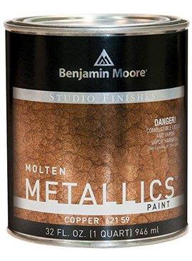 BENJAMIN MOORE STUDIO MOLTEN METAL-COPPER QT