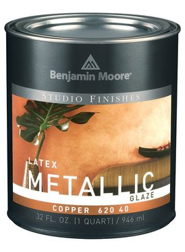 BENJAMIN MOORE STUDIO METALLIC GLZ-COPPER QT
