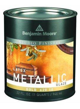 BENJAMIN MOORE STUDIO METALLIC GLAZE GOLD QUART