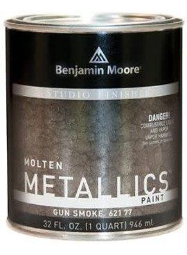 BENJAMIN MOORE STUDIO MOLTEN METAL GUN SMOKE QUART