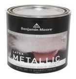 BENJAMIN MOORE STUDIO METALLIC Glaze-Pearlescent White- Quart