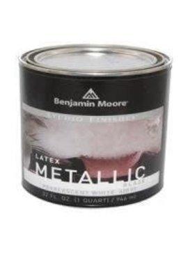 BENJAMIN MOORE STUDIO METALLIC GLAZE PEARL TINT BASE  QUART