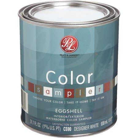 PRATT&LAMBERT 1/4 Color Sampler Des White LS