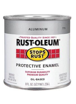 RUST-OLEUM CORPORATION ALUMINUM PROTECTIVE ENAMEL HALF PINT