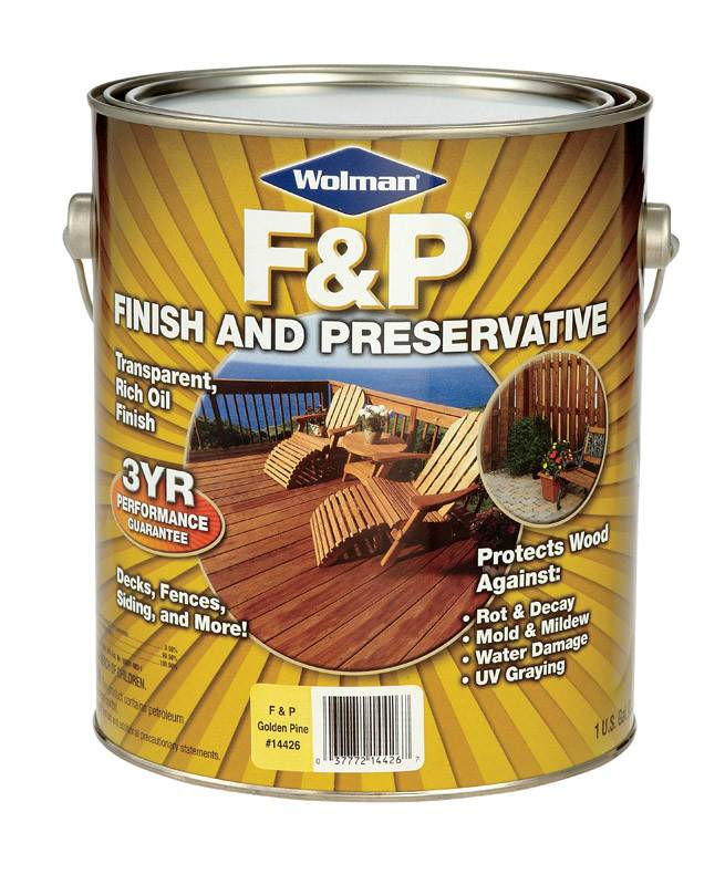 Wolman 1 Gal F And P Natural Exterior Wood Stain Finish: WOLMAN F&P GOLDEN PINE PREMIUM WOOD FINISH