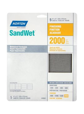 WATERPROOF SANDPAPER - 2000 GRIT 5/PK