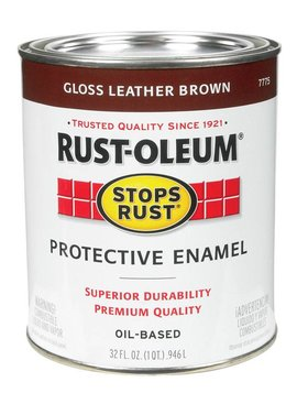 RUST-OLEUM CORPORATION GLOSS LEATHER BROWN PROTECTIVE ENAMEL QUART