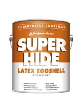 BENJAMIN MOORE C286 01 005 SUPER HIDE EGGSHELL-WHITE -- 5 GAL