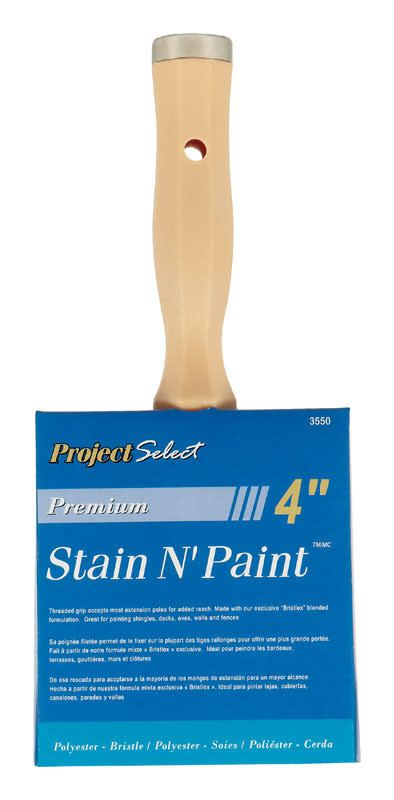 4 IN POLYESTER/BRISTLE STAIN BRUSH