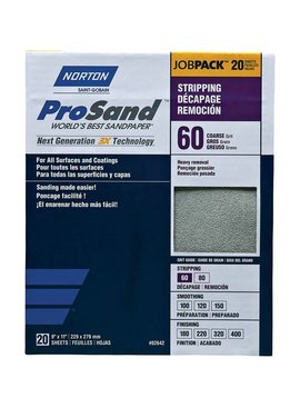 NORTON ABRASIVES Prosand Contractor 20 Pack Sandpaper