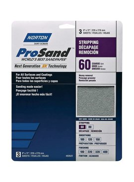 NORTON ABRASIVES ProSand Sandpaper 3 Pack