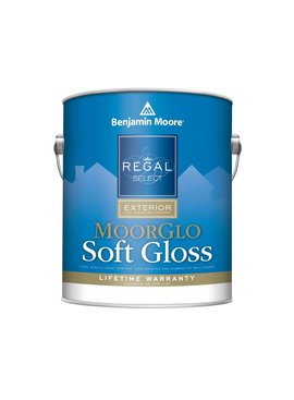 BENJAMIN MOORE REGAL EXTERIOR MOORGLO  SOFT GLOSS  GALLON