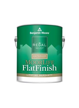 BENJAMIN MOORE REGAL EXTERIOR MOORLIFE FLAT GALLON