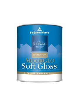 BENJAMIN MOORE REGAL EXTERIOR MOORGLO  SOFT GLOSS QUART