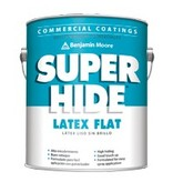 BENJAMIN MOORE 0282 SUPER HIDE INTERIOR LATEX FLAT FIVE GALLON