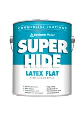 BENJAMIN MOORE SUPER HIDE INTERIOR LATEX FLAT FIVE GALLON