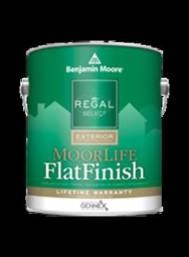 BENJAMIN MOORE REGAL EXTERIOR MOORLIFE FLAT FIVE GALLON