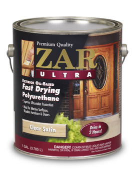 UGL LABS INC Zar Exterior Wood Finish: Satin or Gloss Finish