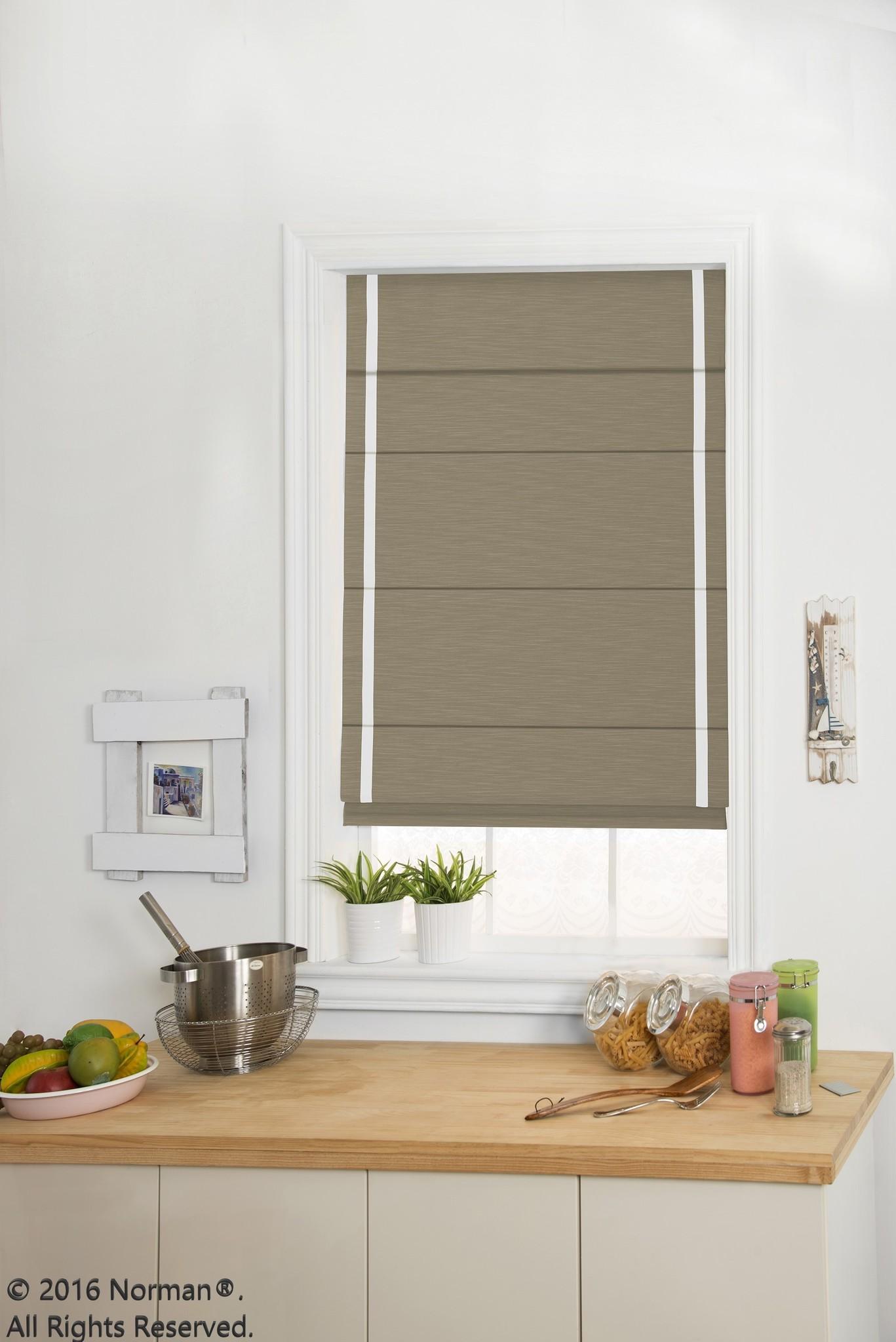 Norman Window Shades Centerpiece™ Roman Shades