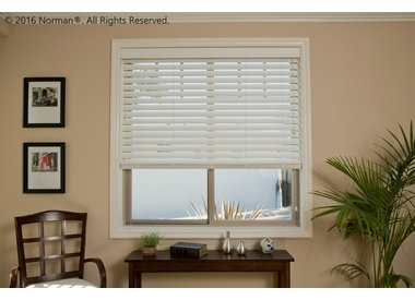 SmartPrivacy® Faux Wood Blinds